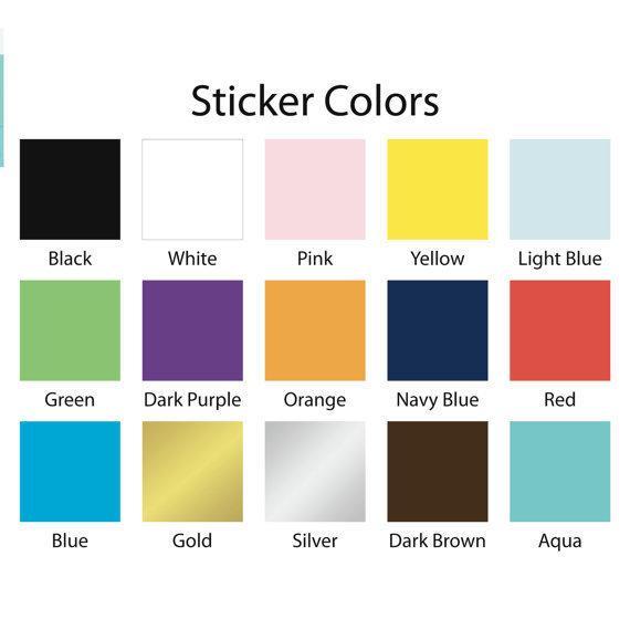 Unicorn Silhouette Stickers / D.I.Y Stickers / Vinyl Decals