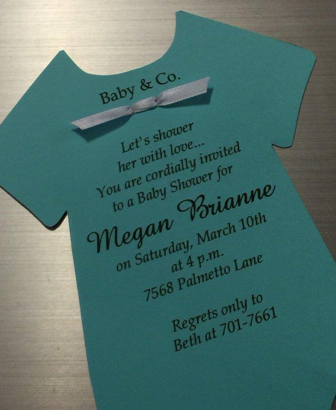 Baby & Company Tiffany Inspired Onesie Baby Shower / Party Invitations