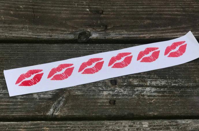 Kissing Lips Vinyl Decal / DIY / Bridal Gift / Fun / Red Lips