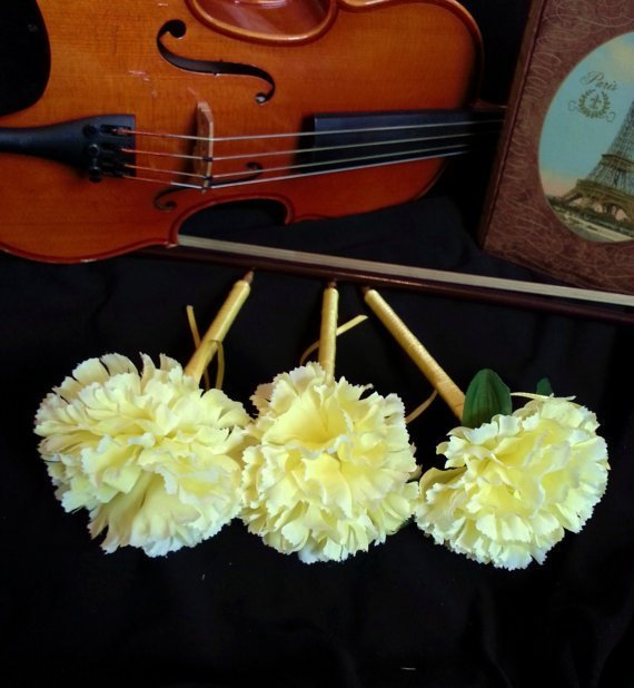 Pretty Yellow Sprint Flower Pen / Wedding /Gift / Special Event / Guest Book