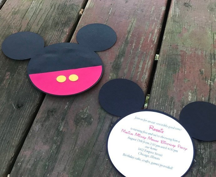 Mickey Mouse Invitations Set / Birthday / Shower / Party