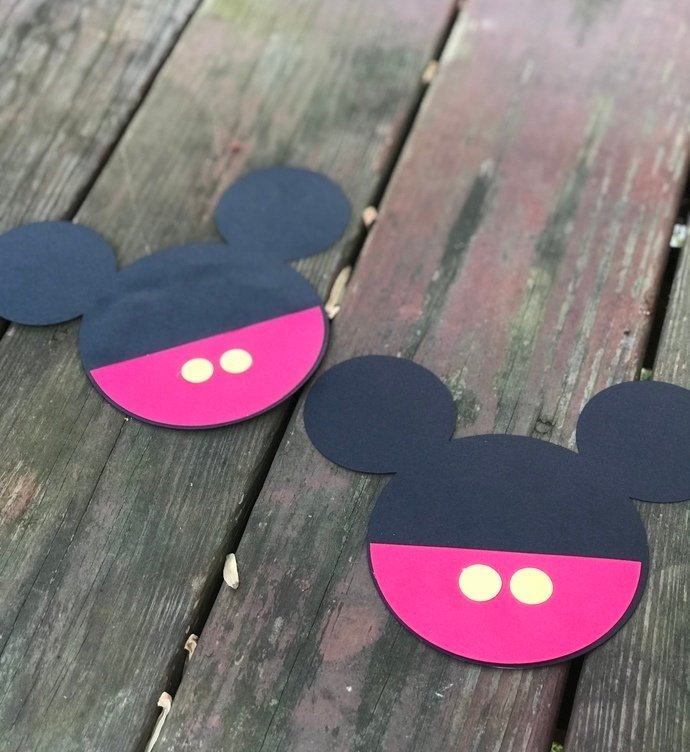 DIY Kit Mickey head with shorts Crafts / Birthday / Shower Invitation Set