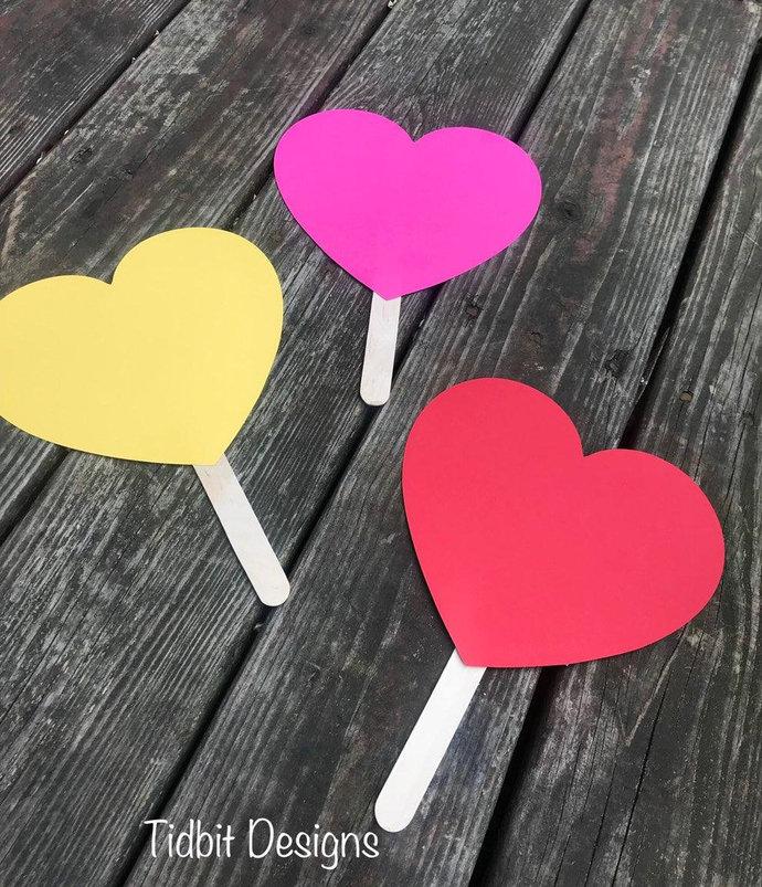 Blank Heart Shaped Paddle Wedding Program / Favors