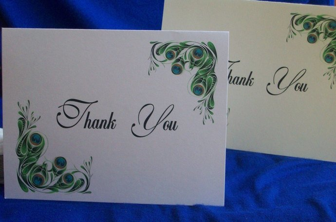 Peacock Love Thank You / Note Cards Set