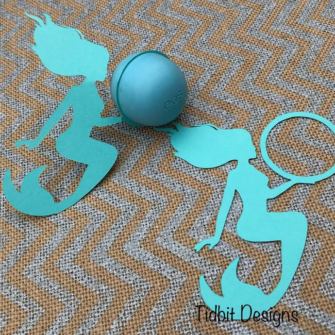 Set of 6 Playful Mermaid  eos  Lip Balm Holders - Favors / Showers / Gifts
