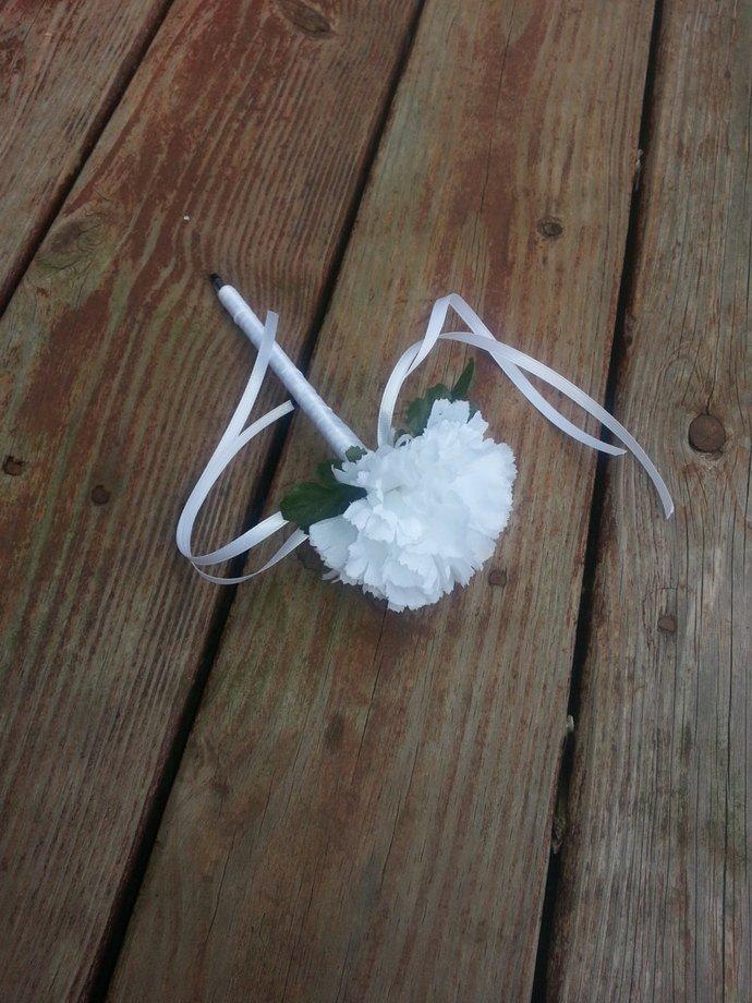 Beautiful White Flower Pen / Wedding, Favor, Gift