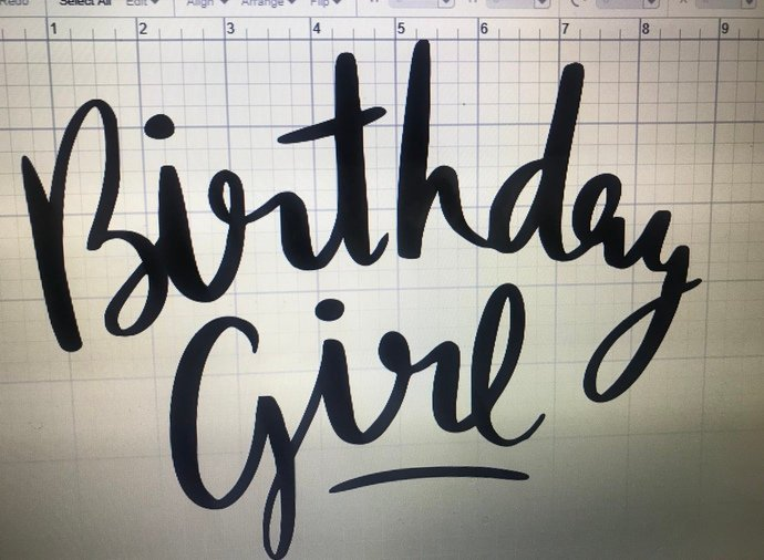 D.I.Y Birthday Girl Iron-On Decal