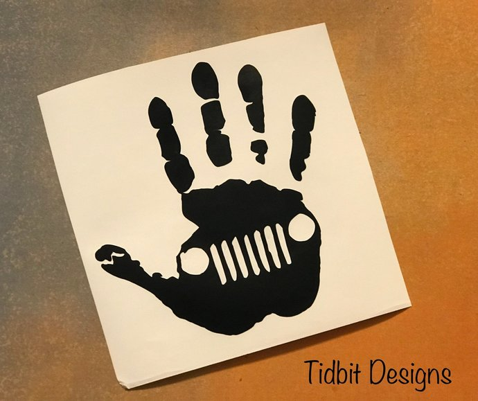 Jeep Wave Decal / Jeep Sticker/ Jeep Logo Decal - Vinyl Decals