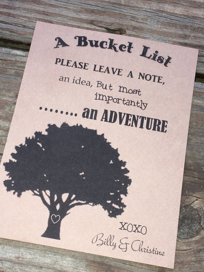 Wedding Wished Bucket List Advice Cards