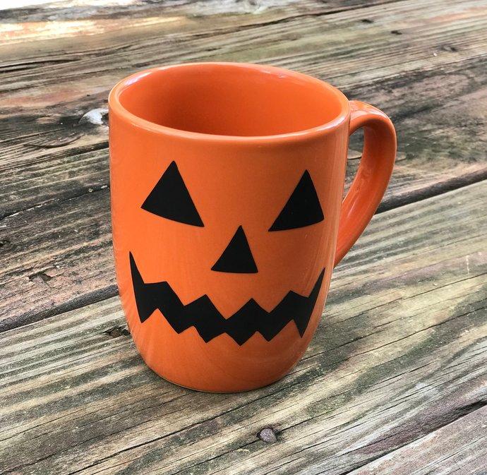 Pumpkin Silhouette Halloween Coffee Mug