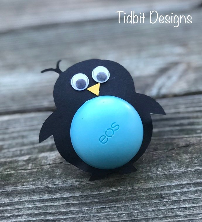 Happy Little Penguin Eos Lip Balm Holders / Birthday / Showers / Gifts / Favors