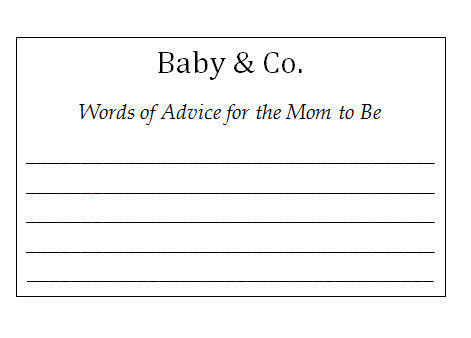 Baby & Co Baby Shower Wish Card Set / Personalized Set - Baby Shower / Wedding/