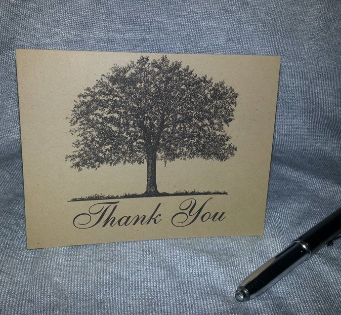 Oak Tree Thank you / Note Cards - Set of 25