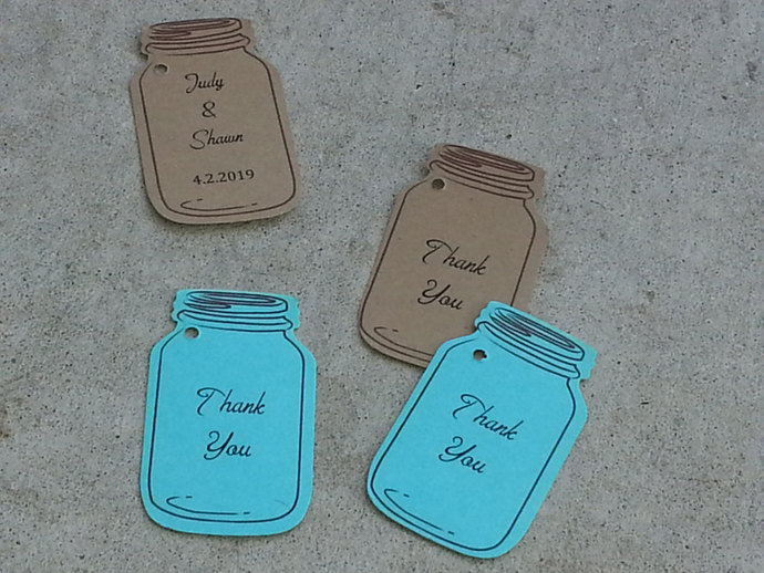 Personalized Mason Jar Favor Tags / Wedding/ Party / Special Event