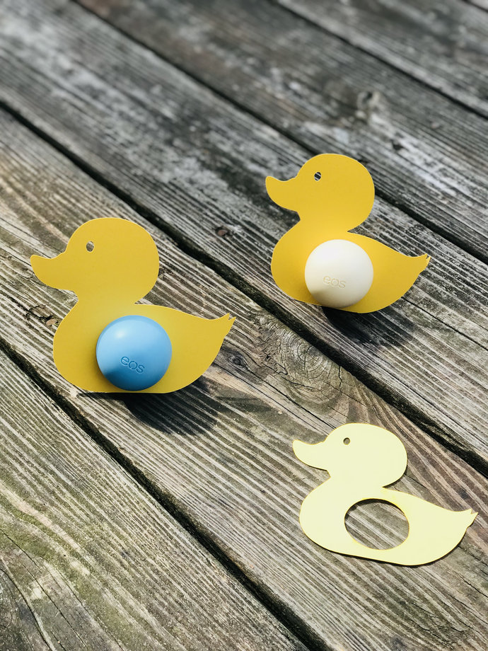 Rubber Ducky Eos Lip Balm Holders (Set of 5) - Birthday / Showers / Gifts /