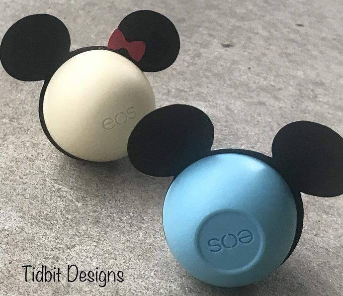 Mickey Ears Eos Lip Balm Holders (Set of 8) - Birthday / Showers / Gifts /