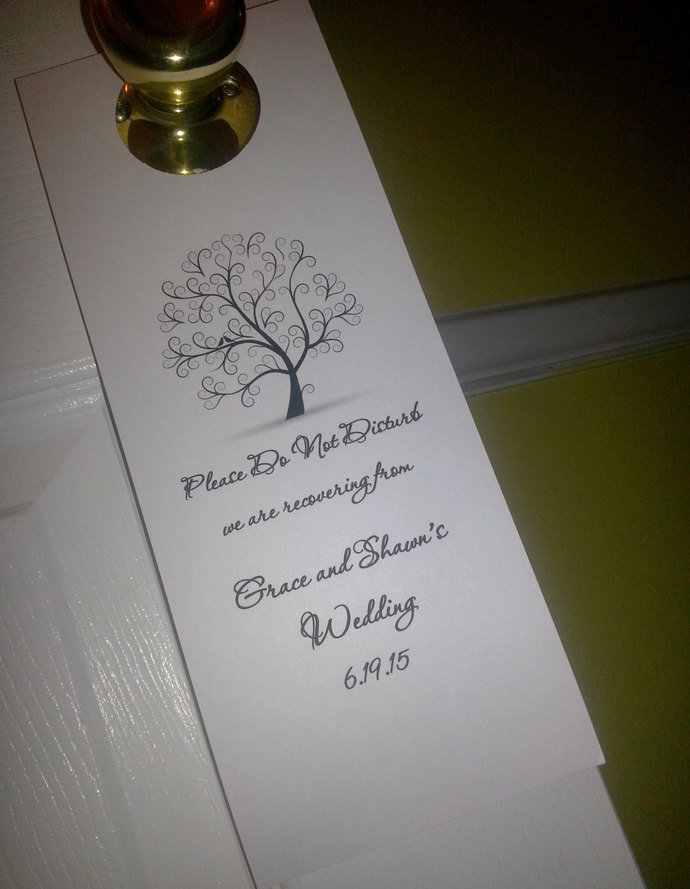 Personalized Do Not Disturb Door Hanger / Wedding/ Party / Special Event