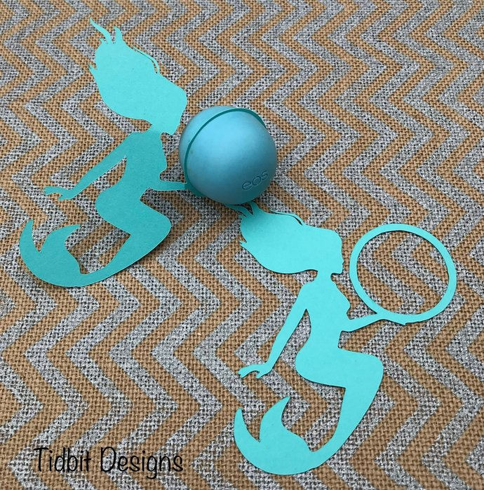 Set of 10 Playful Mermaid  eos  Lip Balm Holders - Favors / Showers / Gifts