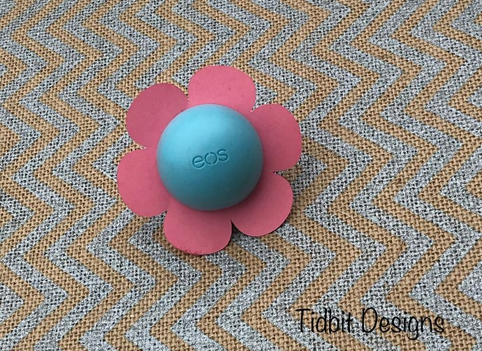 Set of 10 Pretty Flower eos  Lip Balm Holders - Favors / Showers / Gifts/ Bridal