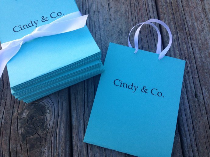 Stylish Little Shopping Bag Invite - Bridal / Shower / Birthday/ Party Invite