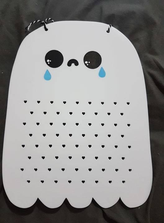 Soookie the Halloween Ghost - Hanging Earrings Storage Board - Small
