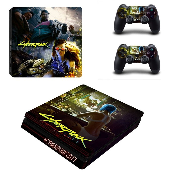 Cyberpunk Vinyl Cover Decal PS4 slim Skin for Sony PlayStation 4 slim Console &