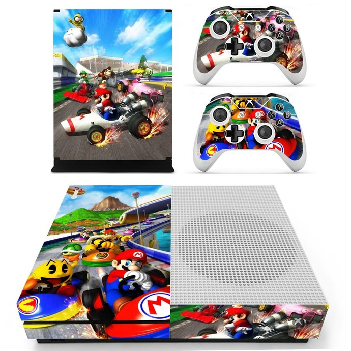 Super Mario Xbox one S Skin for Xbox One S Console and 2 Controllers