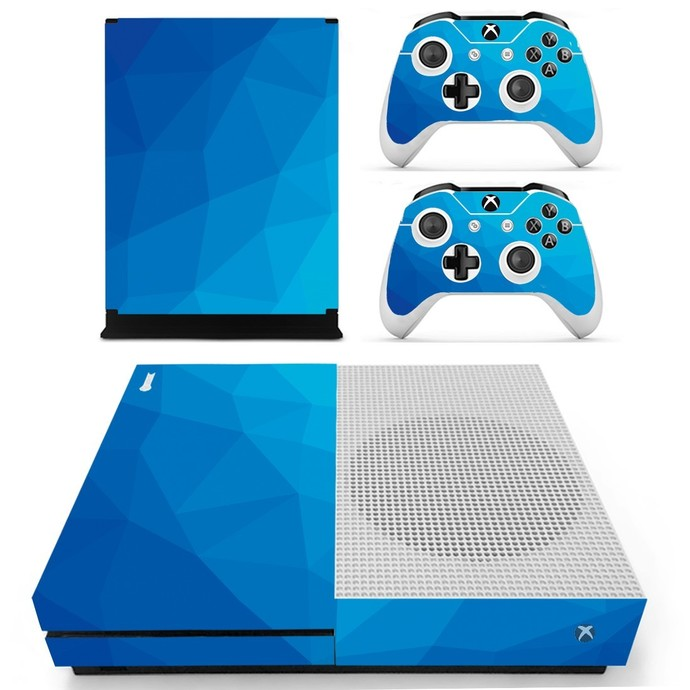 Blue board Vinyl Cover Decal Xbox one S Skin for Xbox Console & 2 Controllers
