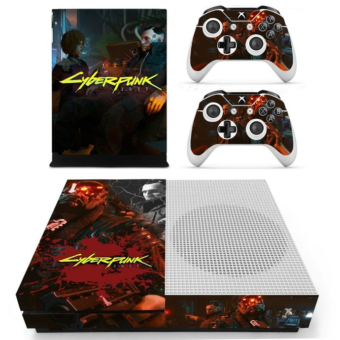 Cyberpunk Vinyl Cover Decal Xbox one S Skin for Xbox Console & 2 Controllers