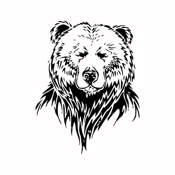 Grizzly Bear 11 graphics design SVG DXF PNG PDF AI EPS Vector Art Clipart