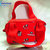 Georgia red Bulldogs Purse Zippered Handbag, inside 2 open pockets and one
