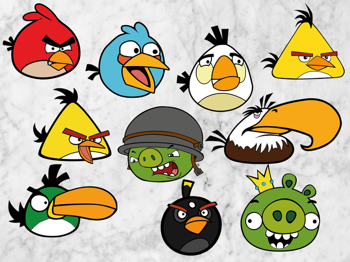 Angry birds svg files, Angry birds clipart, Angry birds cut files, eps vectors,