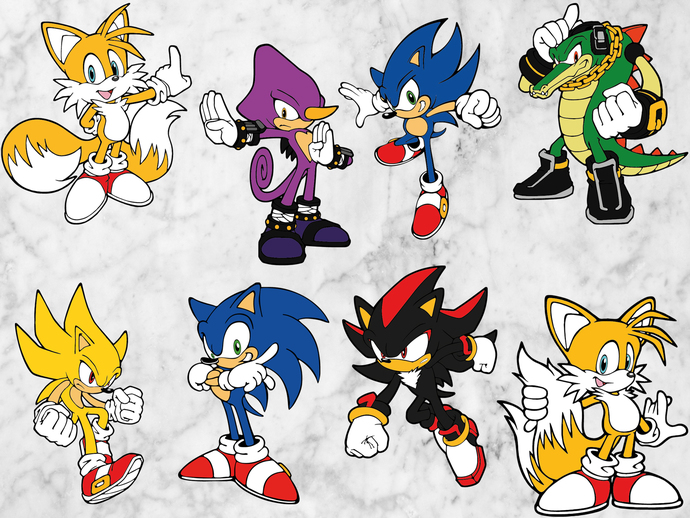 Sonic the hedgehog svg files, Sonic svg, clipart, Sonic cut files, eps vectors,