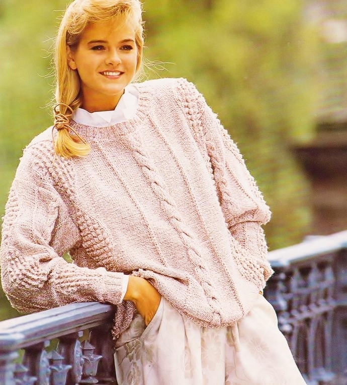 Instant PDF Digital Download Vintage Knitting Pattern a Ladies Womens Cable