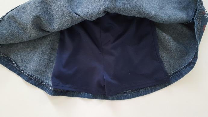 Girl's Denim Skirt - Christmas  Cookies - Hand Painted Upcycled Girl's Denim