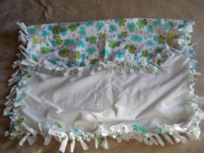 item # 063 Frog Baby Blanket