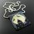 Bead loomed silhouette and full moon pendant