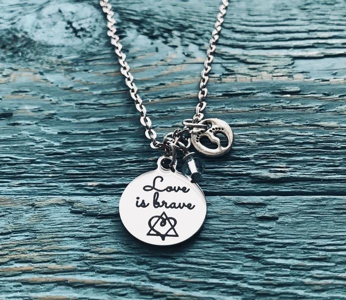 Love is brave, Birthmother, Birth Mom, Birth Mother, Baby adoption, Silver