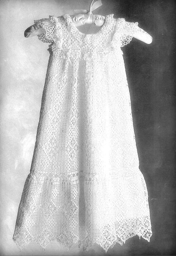 Instant PDF Digital Download Vintage Crochet Pattern to make A Lacy Antique