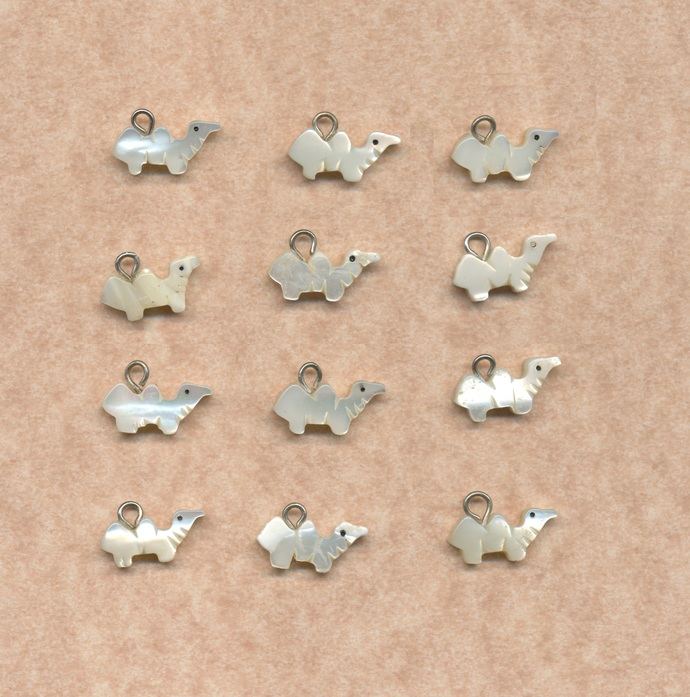 12 Mother of Pearl charms