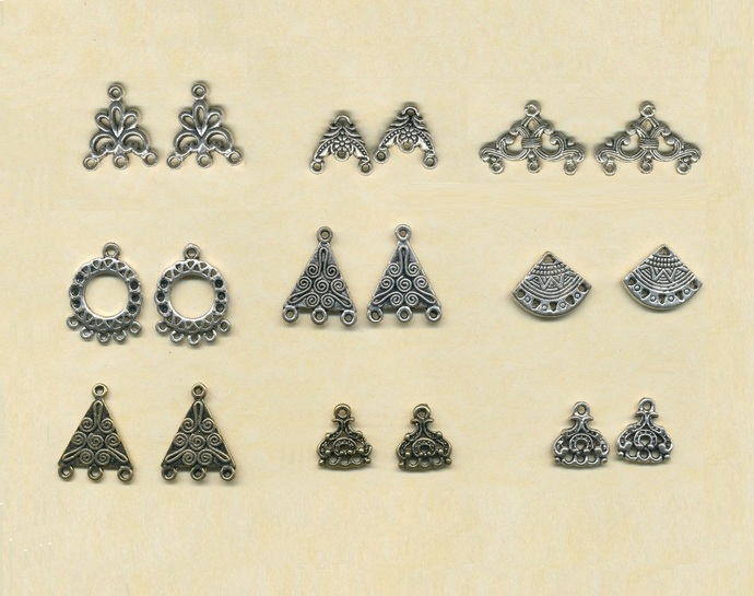 9 Pairs dangley earrings components