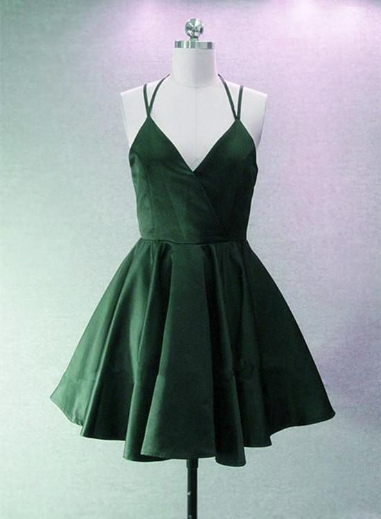 Lovely Satin Short Party Dress, Cute Prom Dress, Junior Party Dress
