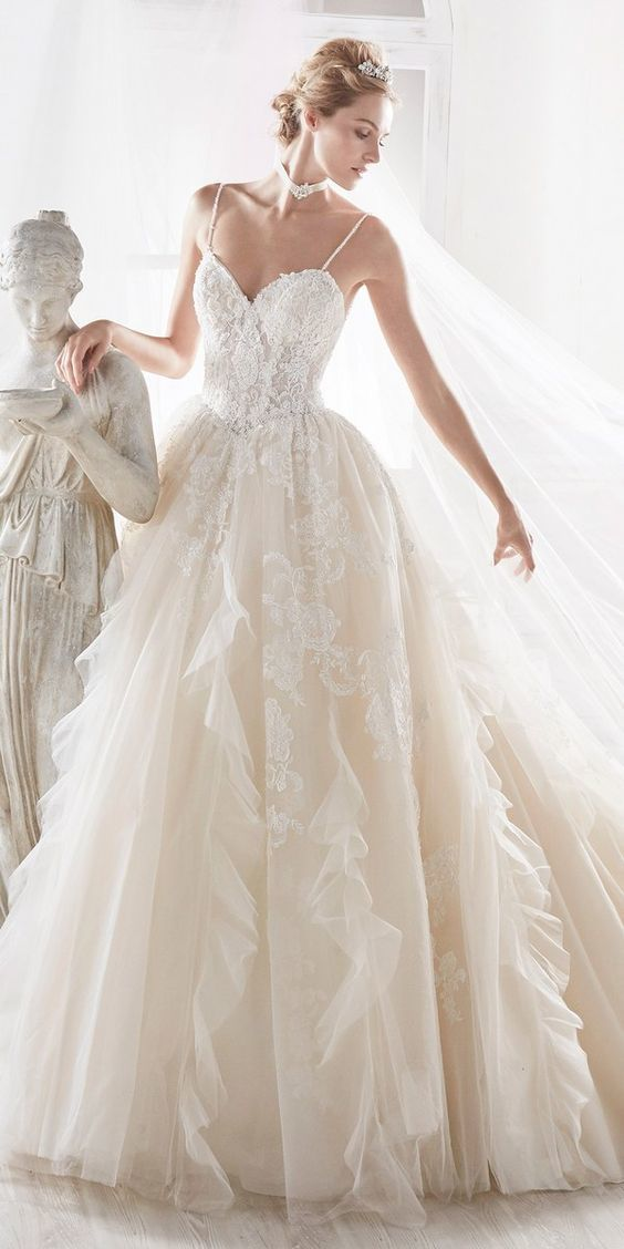 6f15bfd0a037 by prom dresses. Fancy Long Wedding Dresses , Spaghetti Applique Dress,Tulle  Weeding Dress