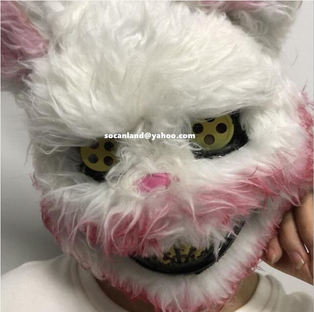 Bloody Bonnie Bunny Head Mask,Bloody Bunny Head Costume,Bloody Bonnie Head