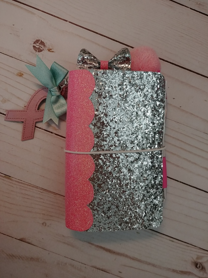 """""""Think Pink"""" Pocket Travelers Notebook w/inserts"""