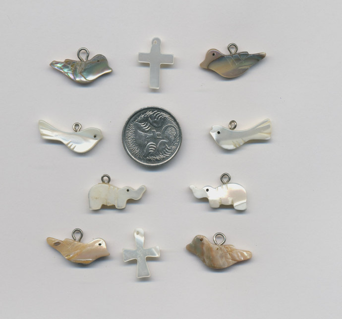 Vintage Mother of Pearl charms