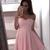 Pink Polka Dot Mini Homecoming Dresses Sweetheart Neck Mini Hoco Dress