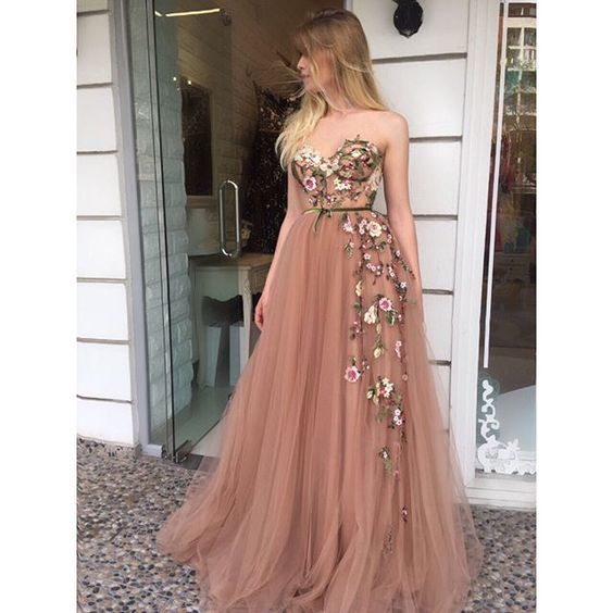 Sexy Prom Dress, Long Prom Dress,Sweetheart Evening Dress