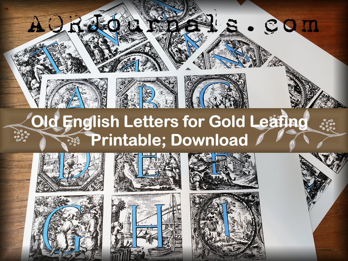 Old English Capital Letters To By Ann Osborne Reed Studios On Zibbet