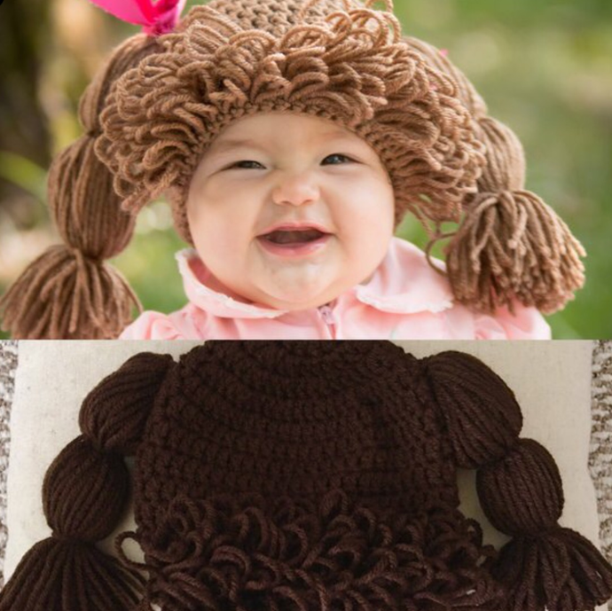 Custom listing - Dark Brown Doll Hair Wig